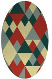 rug #1154555 | oval yellow retro rug