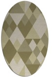 rug #1154563 | oval light-green rug