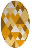 rug #1154575 | oval light-orange retro rug