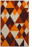 rug #1154591    orange geometry rug