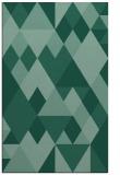 rug #1154647 |  blue-green retro rug