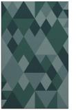 rug #1154663 |  blue-green retro rug