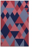 rug #1154683 |  blue-violet geometry rug