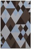 rug #1154699 |  blue-violet geometry rug
