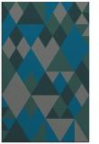rug #1154719 |  blue-green retro rug