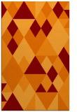 rug #1154799 |  orange retro rug