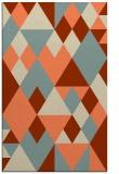 rug #1154807 |  orange retro rug