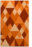 rug #1154867 |  red-orange retro rug