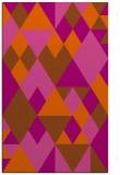 rug #1154871 |  red-orange retro rug