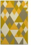 rug #1154907 |  yellow geometry rug