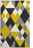 rug #1154915 |  yellow retro rug