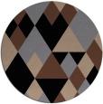 rug #1154975 | round black retro rug