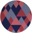 rug #1155051 | round blue-violet retro rug