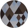 rug #1155067 | round blue-violet rug