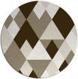rug #1155119 | round mid-brown retro rug