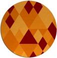 rug #1155167 | round orange retro rug