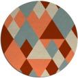 rug #1155175 | round orange retro rug