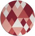 rug #1155195 | round pink rug