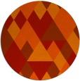 rug #1155219 | round orange retro rug