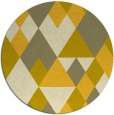 rug #1155275 | round yellow retro rug