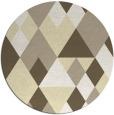 rug #1155279 | round yellow retro rug