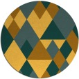 rug #1155287 | round light-orange retro rug