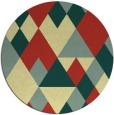 rug #1155291 | round yellow retro rug