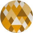 rug #1155311 | round light-orange geometry rug