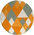 rug #1155319 | round light-orange retro rug