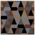 rug #1155703 | square black retro rug