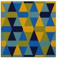 rug #1155727 | square blue retro rug