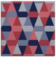 rug #1155787 | square blue-violet retro rug