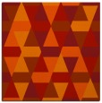 rug #1155955 | square red retro rug