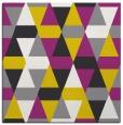 rug #1156019 | square yellow retro rug