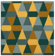 rug #1156023 | square yellow retro rug