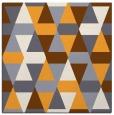 rug #1156059 | square light-orange retro rug