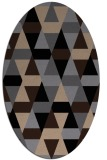 rug #1156075   oval beige retro rug