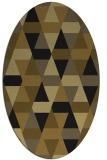 rug #1156083 | oval mid-brown retro rug