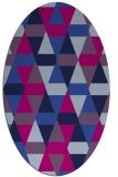 rug #1156099 | oval blue retro rug