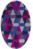 rug #1156101   oval retro rug