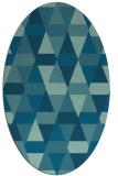 rug #1156131 | oval blue-green rug