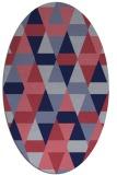 rug #1156155 | oval pink retro rug