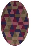 rug #1156167   oval beige retro rug