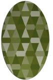 rug #1156187 | oval green geometry rug