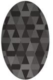 rug #1156215 | oval brown rug