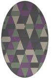 rug #1156247 | oval beige geometry rug