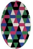 rug #1156263 | oval black geometry rug