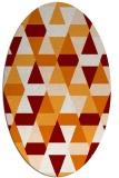 rug #1156275 | oval orange geometry rug
