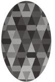 rug #1156283 | oval orange geometry rug