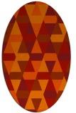 rug #1156323 | oval orange retro rug